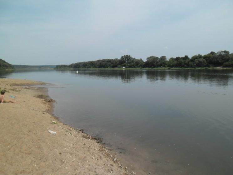 Река Ока, пляж
